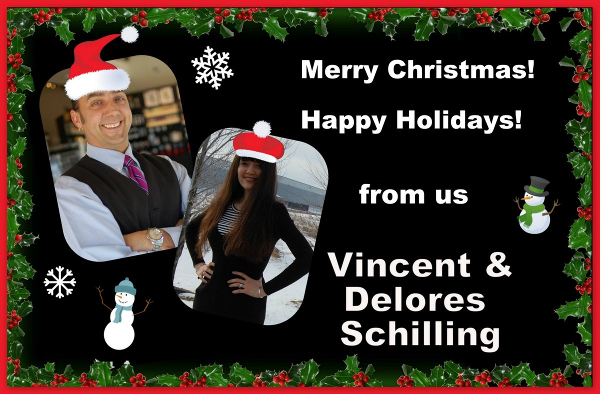 Merry Christmas everyone! Happy Holidays from @DelSchilling and @VinceSchilling!