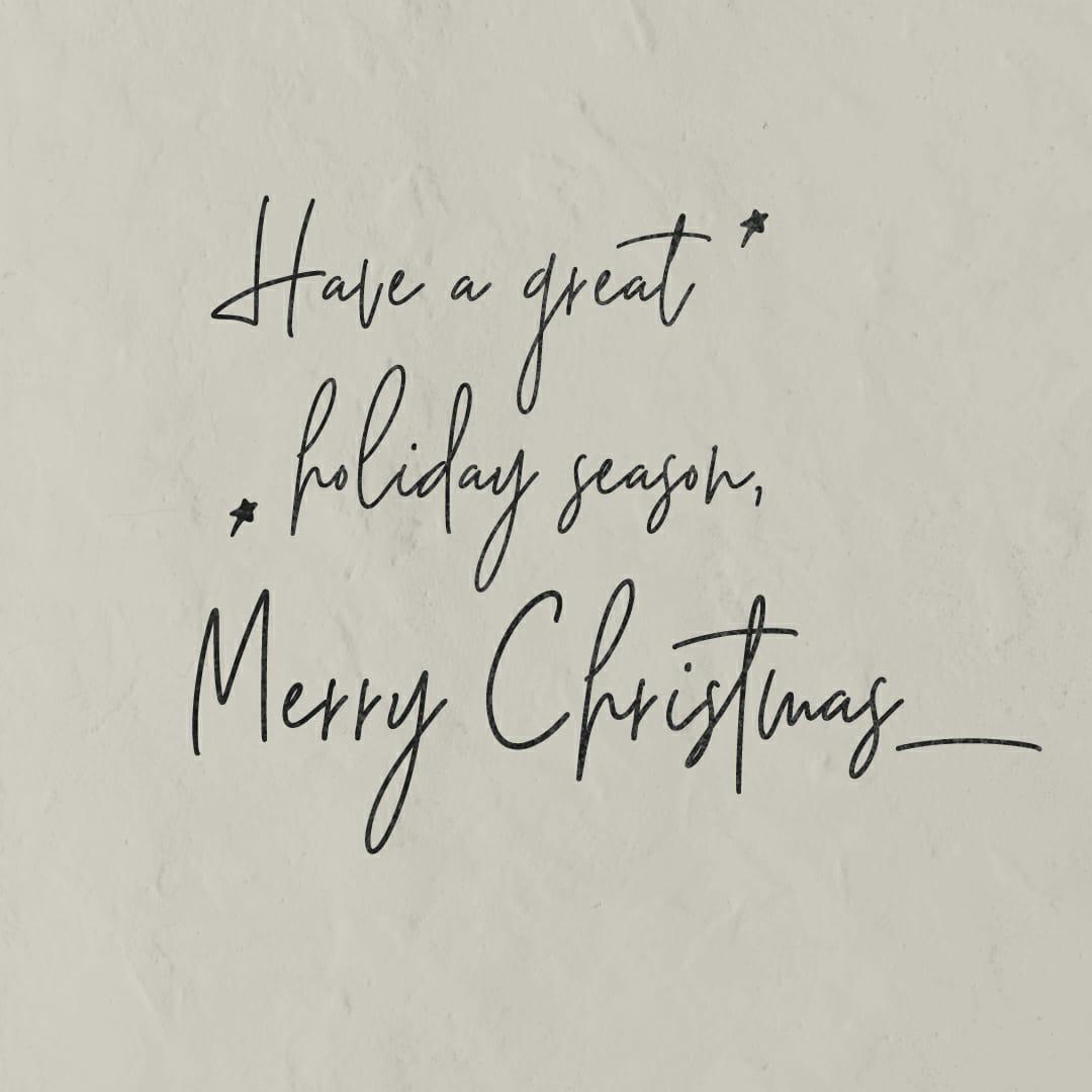 Wish you all a Merry Christmas & a safe holiday season!  #MerryChristmas