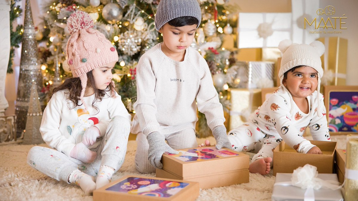 Remember gathering around our little ones to unwrap gifts and share cheer and laughter? ❤️  It's Christmas time and we get together to make new memories, surrounded by our loved ones under the Mistletoe. ✨🎄 #Christmas2020  #MAATÉ