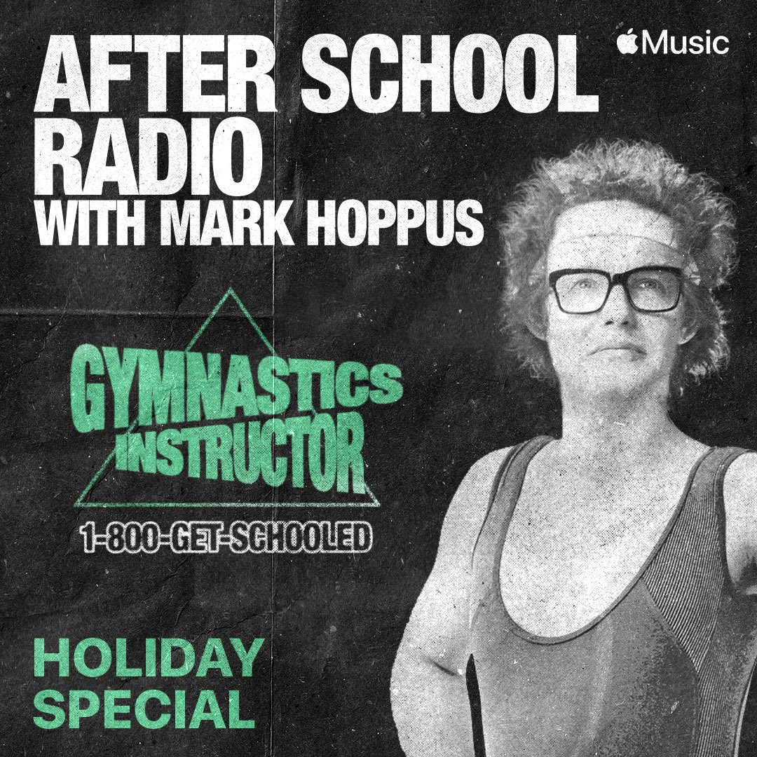 Still looking for some Christmas spirit? I get into some traumatic childhood Christmas morning stories somewhere on this Holiday themed episode of #AfterSchoolRadio with @markhoppus on @AppleMusic  Thanks for having me on Mark!
