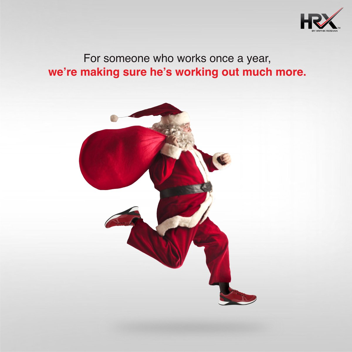 'Lifting' all those gifts demanded the right gear 😏  Santa's gotten his HRX TR-100 trainers, have you? 💪🏼   Merry Christmas from the HRX Family 🎄 . Buy your TR-100:  . . #KeepGoing #TurnItUpWithHRX