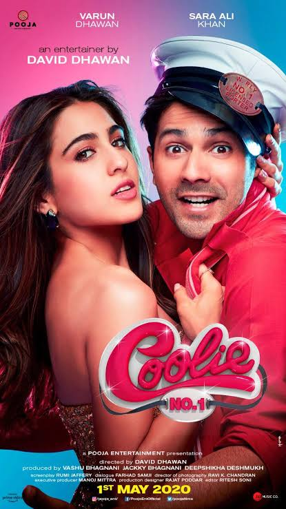 #CoolieNo1Review Nobody can Match Govinda but in this New #CoolieNo1. @Varun_dvn has lifted the film with his comic timing . #SaraAliKhan is good . #DavidDhawan has made an entertaining movie which wl b loved by families & kids . Best Christmas film on OTT of 2020. RATINGS ⭐⭐⭐