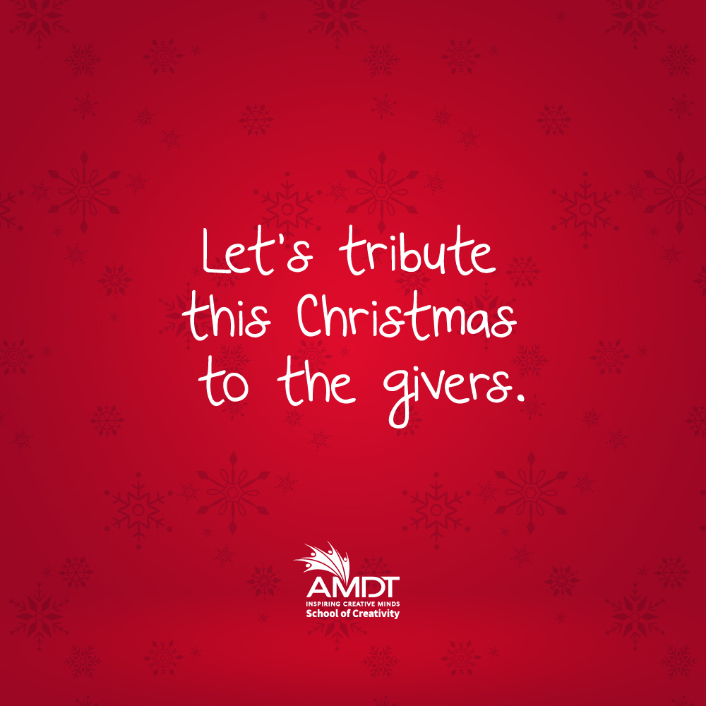 Let's tribute this year's Christmas to the givers. Those who opened their hearts and their humanness. May our blessings prosper them.   Love from our Creative family to yours.  Stay home and be safe.  #WeAreAMDT #CreativityStartsHere #Creativity #Christmas #SriLanka #Maldives https://t.co/BHw583INDO
