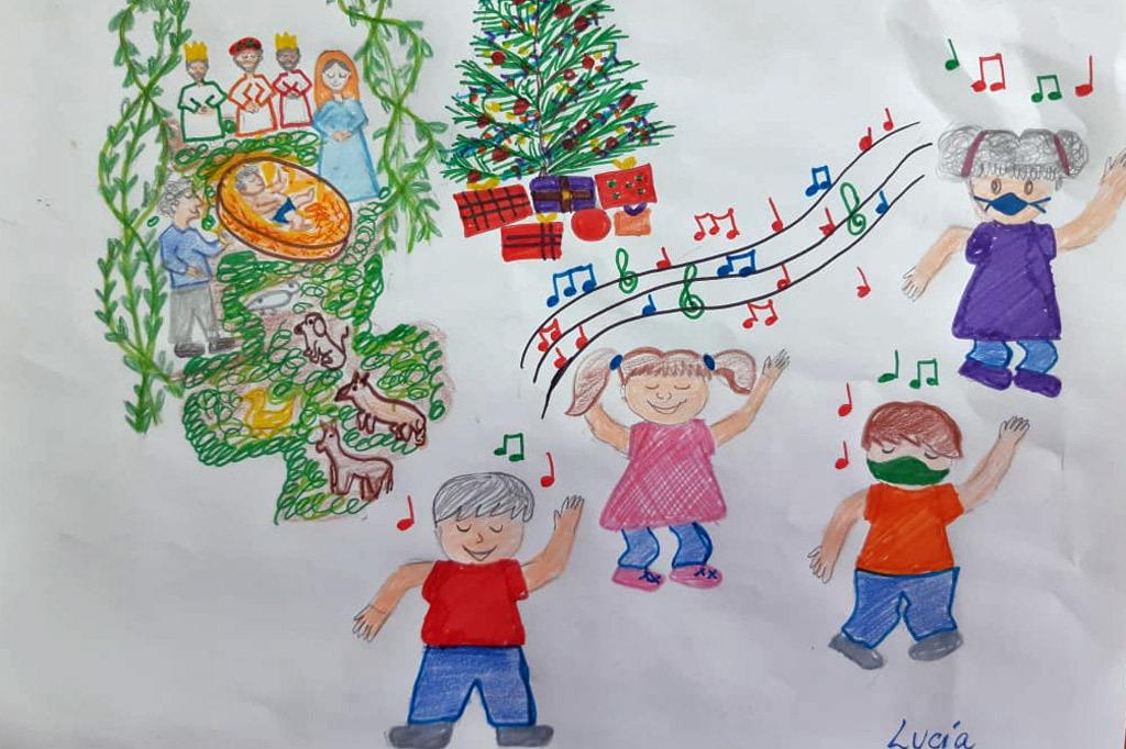 Wie sieht #Weihnachten in #Bolivien aus? Das haben wir die #Kinder aus unseren Projekten gefragt. Ihre Antworten kamen – auf vielen bunten Bildern. Darunter sind auch singende Kinder mit #Masken unterm Weihnachtsbaum - ohne das geht's nicht dieses Jahr! #wework4childrensrights https://t.co/YfkrRt5d6i