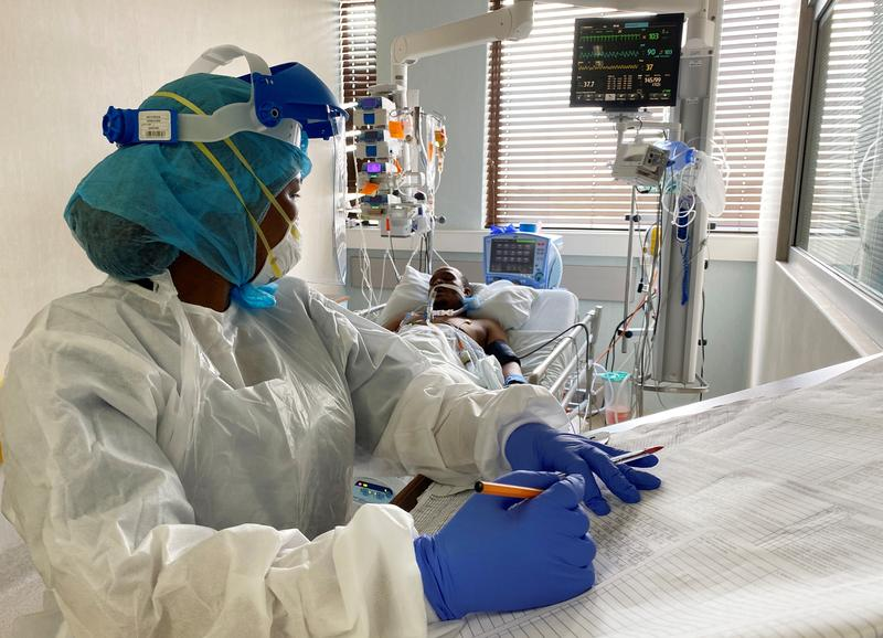 South African health workers stretched as COVID-19 infections near 1 million