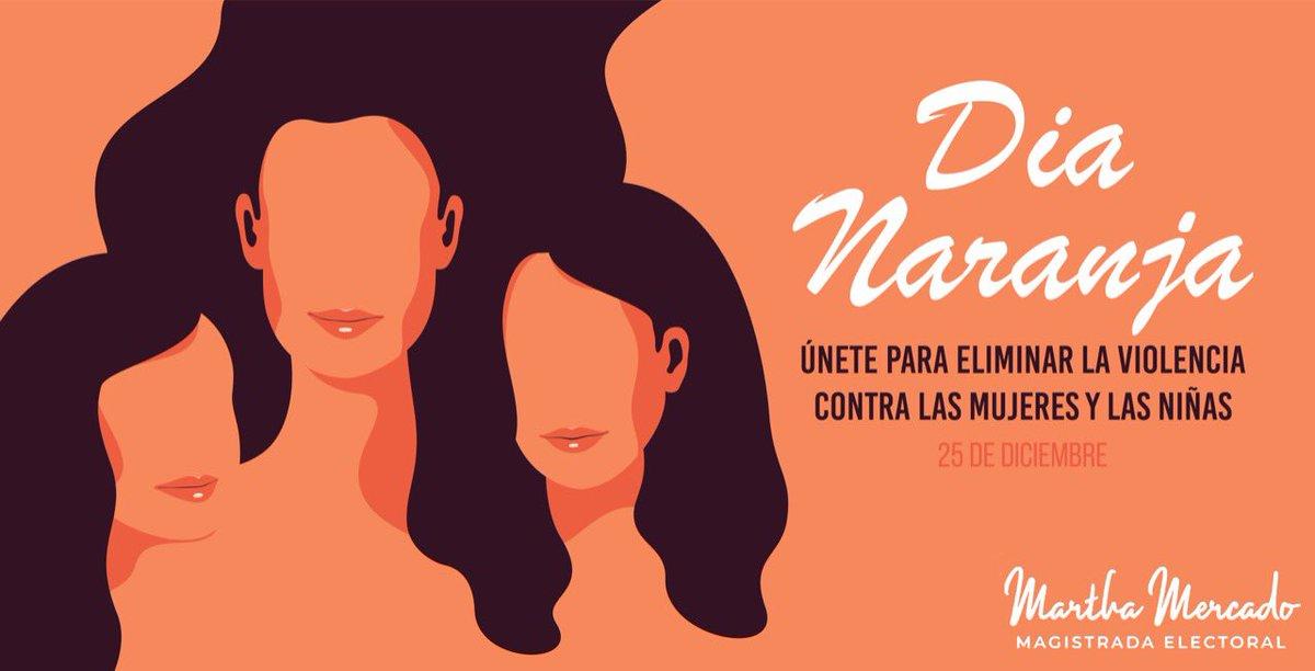Por un México donde impere la igualdad sustantiva y el respeto a los derechos de todas las mujeres y las niñas.  #DíaNaranja #MujeresUnidas #Sororidad #DerechosdelasMujeres