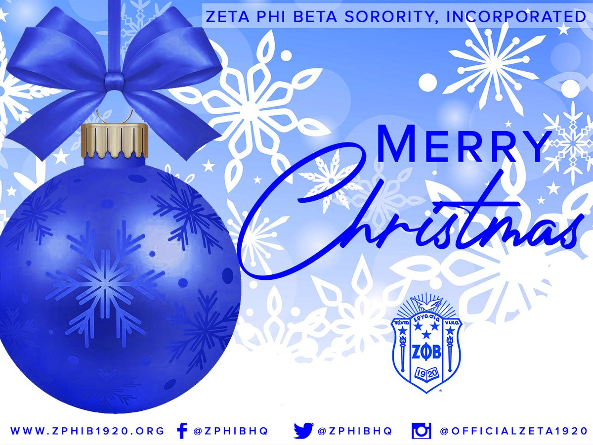 Merry Christmas! Wishing you a season that's merry and bright! #christmas #zetaphibeta #zphib