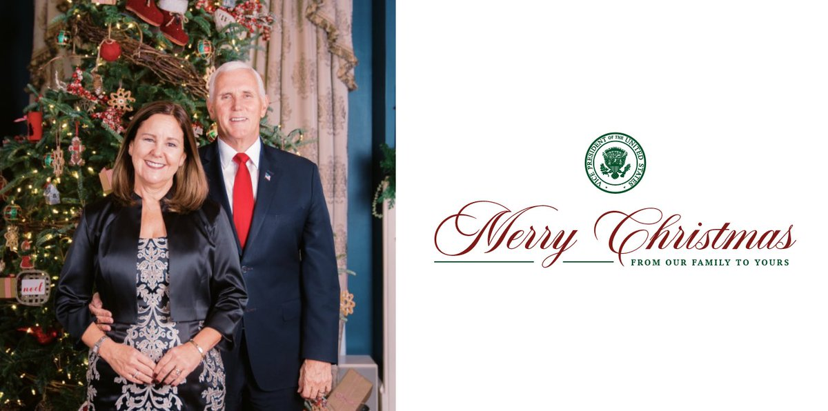 Replying to @Mike_Pence: .@SecondLady and I wish you and your family every blessing and a very Merry Christmas!