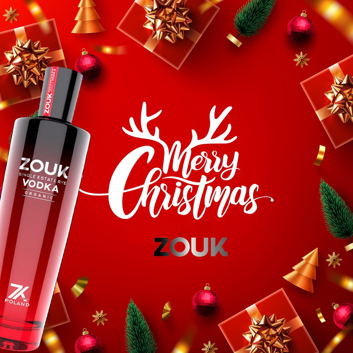 From everyone at #ZOUK , we'd like to say Thank You for your continued loyalty and faith in us. Put your feet up and have a well-deserved rest this Christmas and let every day of the holiday season be filled with joy  #MerryChristmas ❤️  #Vodka #xmas2020 #Christmas #Christmas2020