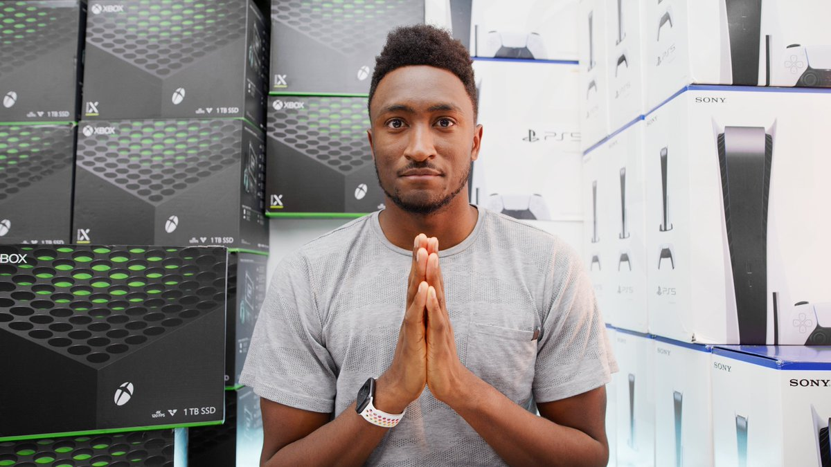 Replying to @MKBHD: NEW VIDEO - Giving Away 24 PS5s and XBox Series X!  - RT!