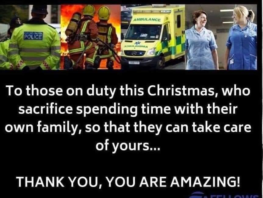 Very grateful to everyone who is working to keep us safe and well. Hope you celebrate when you can 🎄
