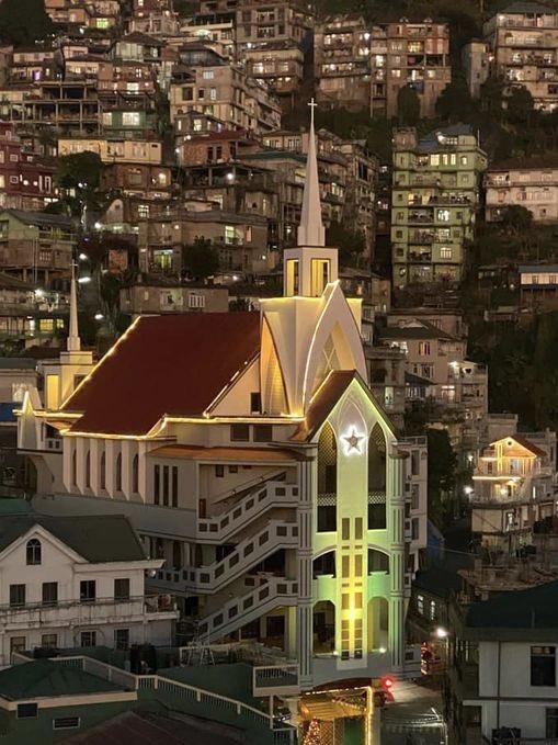 Christmas lights. #Aizawl #Mizoram