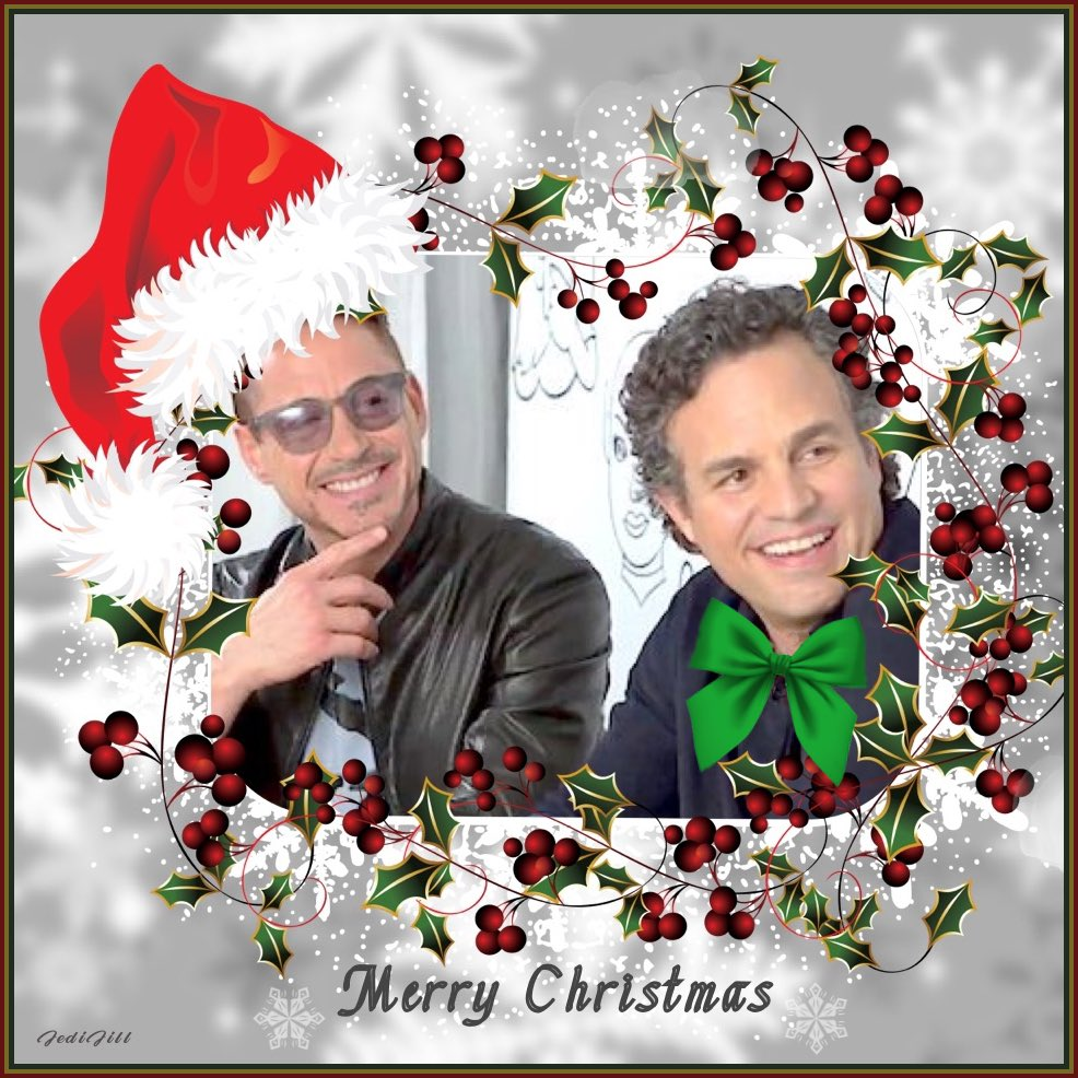 Merry Christmas! Have some Science Bros holiday cheer! 💚❤️#MarkRuffalo #RobertDowneyJr #ScienceBros #ScienceBrosForever 💚❤️ #MerryChristmas #HappyHolidays