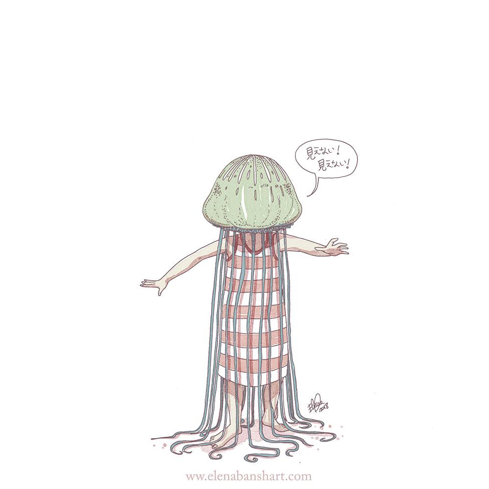 Merry Christmas! メリークリスマス 🎄 #アート #アーティスト  #イラスト #イラストレーター #絵 #漫画 #マンガ #キャラクター #キャラデザ #海の生き物 #illustration #art #characterdesign #drawing #illustrator #seacreature #jellyfishmask #jellyfish