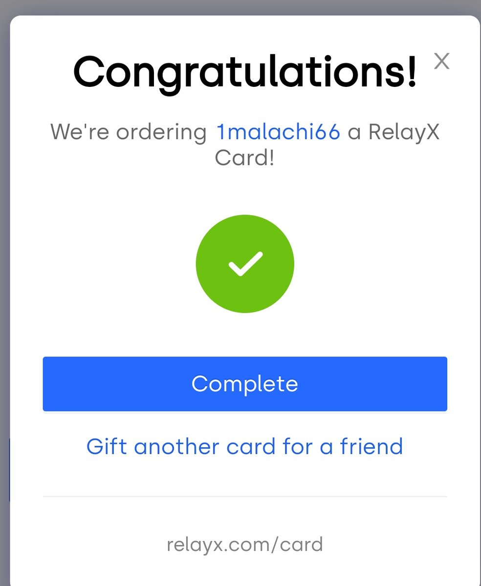 Ordered my card from @relayxio can't wait #BSV