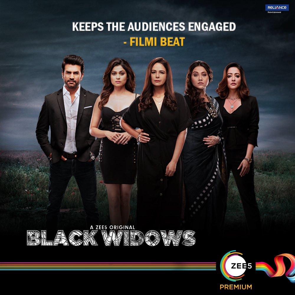 The #BlackWidows will surprise you and shock you too! Streaming now on@ZEE5Premium.    @ShamitaShetty #MonaSingh @raimasen @SharadK7 @swastika24 @paramspeak @BirsaDasgupta @ali_aamir @nikhilbhambri_ @shruti17_vyas @malikfeb @dontannoyroy @Shibasishsarkar