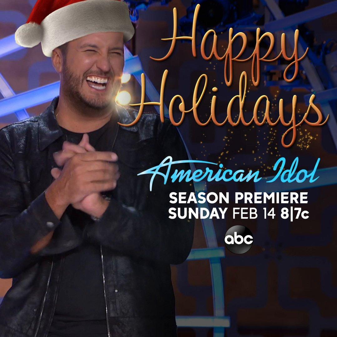Happy Ho-Ho-Holidays from @LukeBryanOnline 🎅 and #AmericanIdol ❤️
