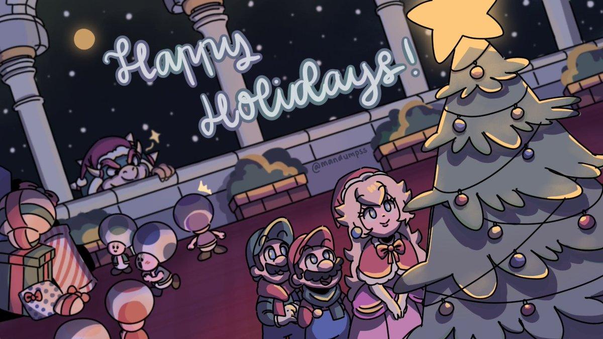 happy holidays!🥳 #supermario #nintendo