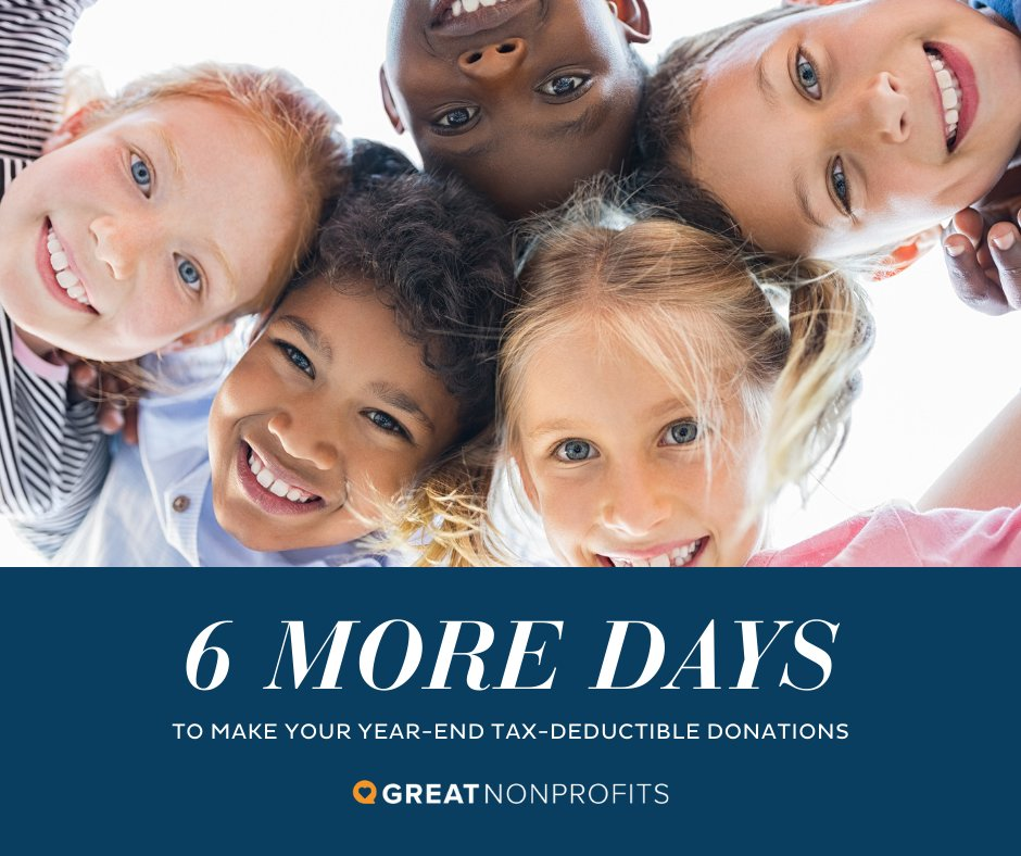 Hurry and give to local nonprofits!  #nonprofits #taxdeductibledonations #charity #donate #givingseason