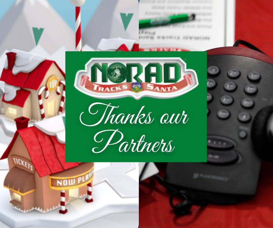 #NORADTracksSanta is made possible due to the generosity of more than 70 contributors! We thank them for their support and participation. Find out who is on the team at
