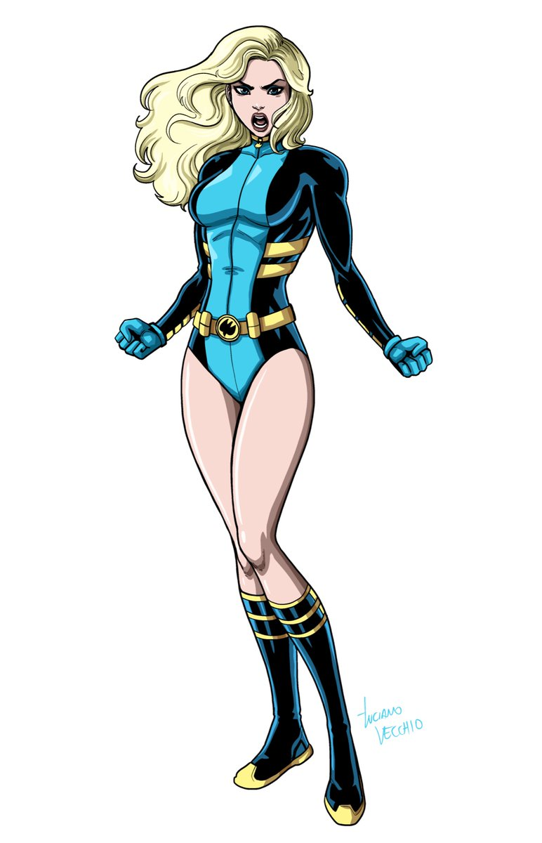 BLACK CANARY In her look from around 1999, the era of JSA and Birds of Prey, some of my favorite years.  Digital Commission #BlackCanary #JSA #BirdsOfPrey #DCComics #JusticeSociety #JusticeLeague