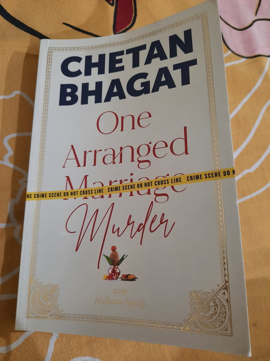 Started with this and completed 45 pages without a Pause.. seems interesting 🤗 @chetan_bhagat Thank you for this Novel 🤩 A Big Fan of yours from Childhood.. After My PhD Thesis Submissions.. reading this for my leisure 😇 #OneArrangedMurder