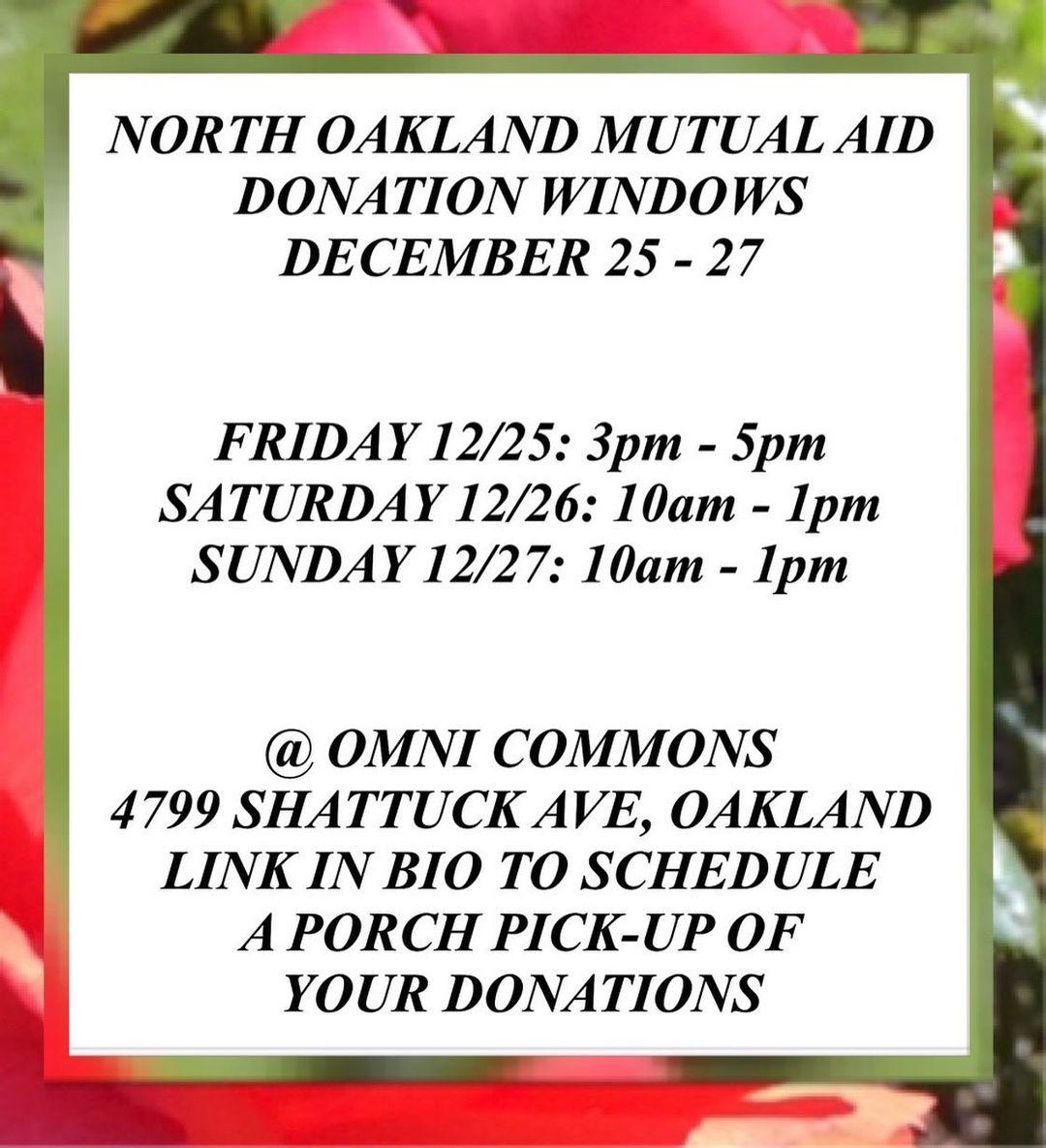 Mutual Aid Dropoffs @ Omni Commons