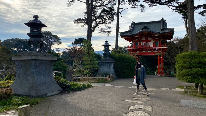 1 pic. Merry Christmas morning stroll at the SF Japanese Garden 🎄🌟✨ https://t.co/jdUht5t4Cc