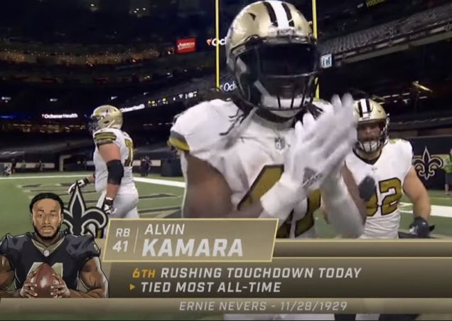 Because Alvin Kamara scored 6 touchdowns and its Christmas, I'm giving away a $25 Amazon gift card to 6 people who like & retweet this and follow me. I'll draw the winners in 6 hours. Merry Christmas.