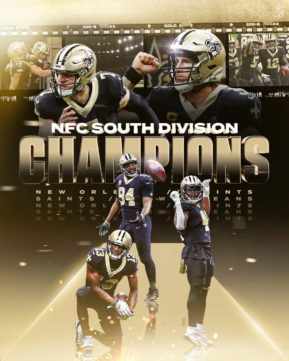 4th straight NFC South title for the @saints!  #NFLPlayoffs | #Saints
