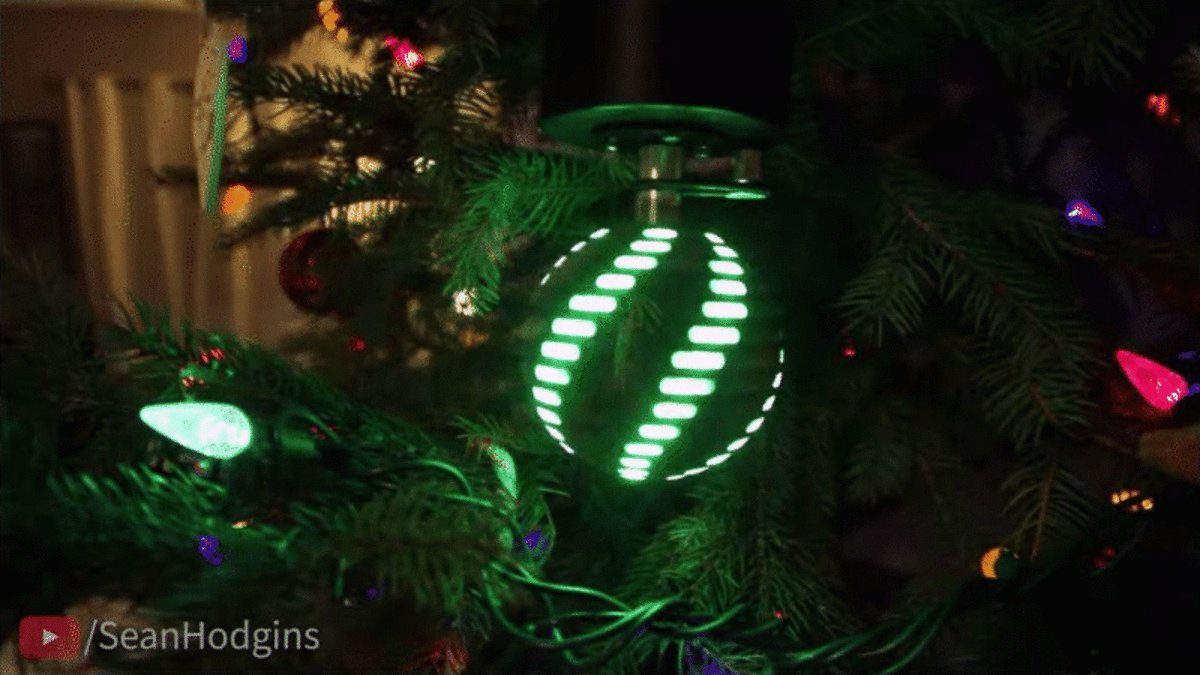 This Persistence of Vision Christmas Ornament Is the Most Hypnotizing Thing You'll See Today