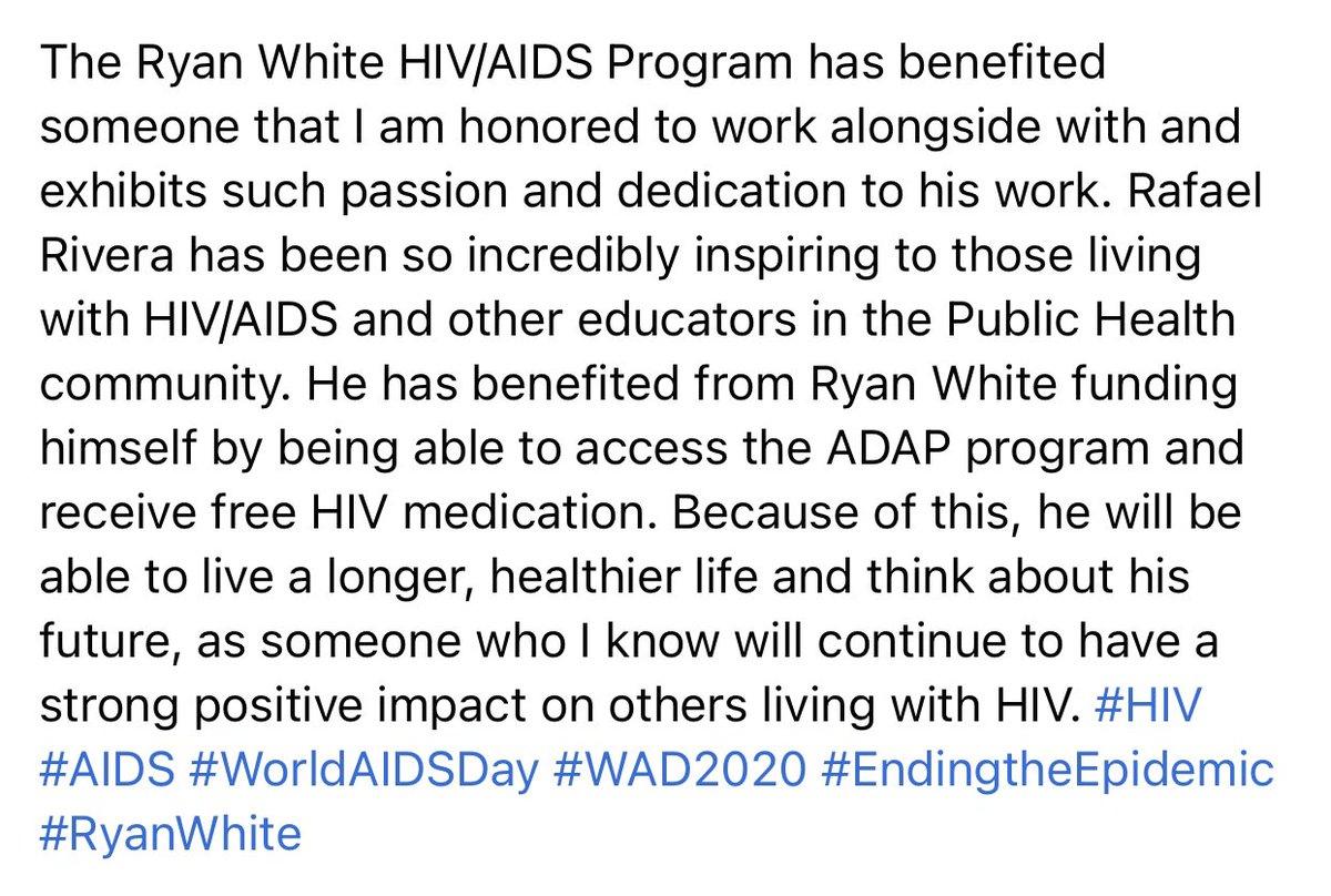 #HIV #AIDS #RyanWhite #WorldAIDSDay #WAD #wad2020 #EndingTheEpidemic