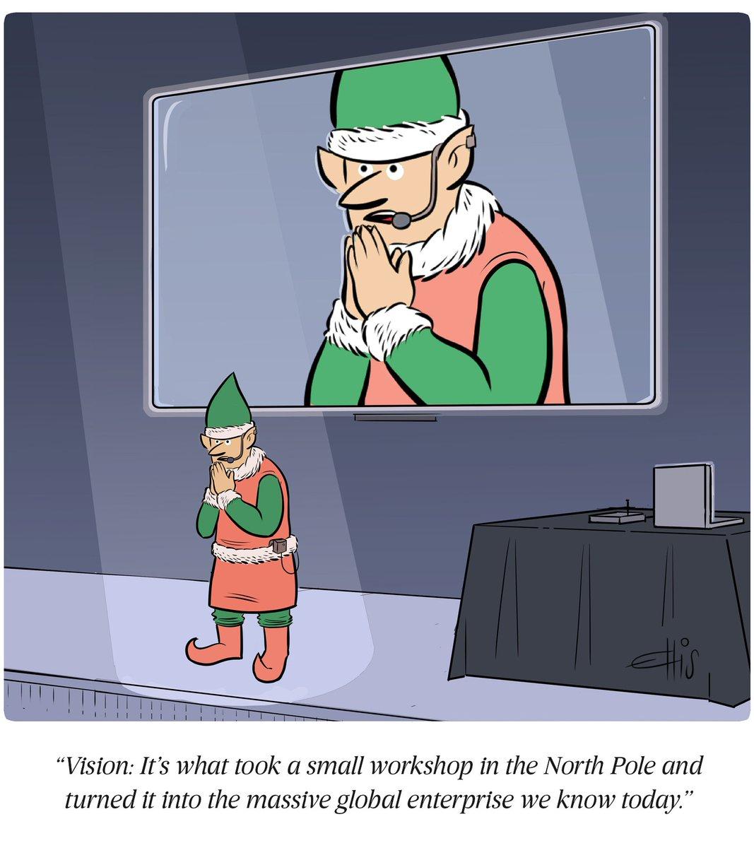 Santa Claus: The original entrepreneur.   A cartoon by Ellis Rosen, with @CollectCartoons: