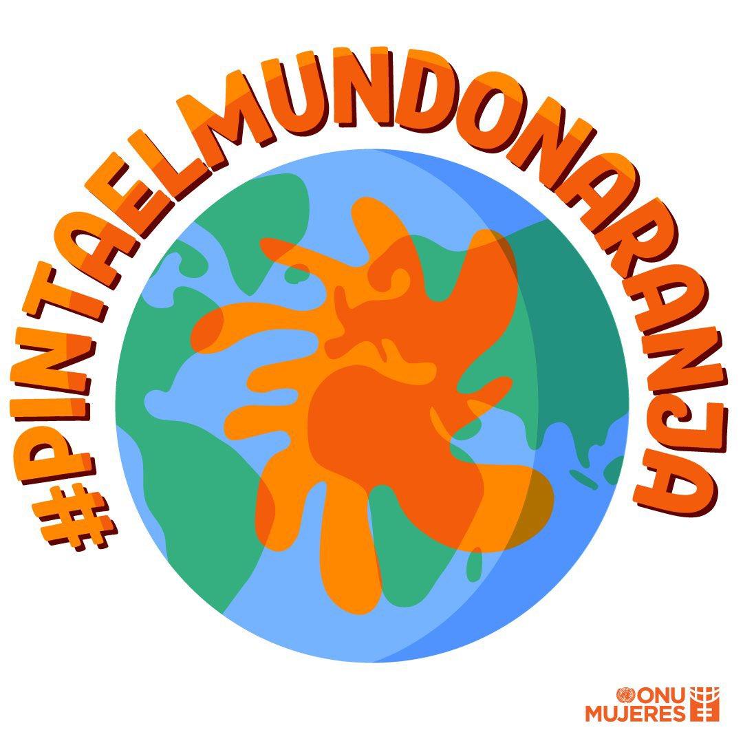 #DíaNaranaja  Pongamos fin a la violencia contra las mujeres y las niñas. #PintaElMundoDeNaranja 🧡