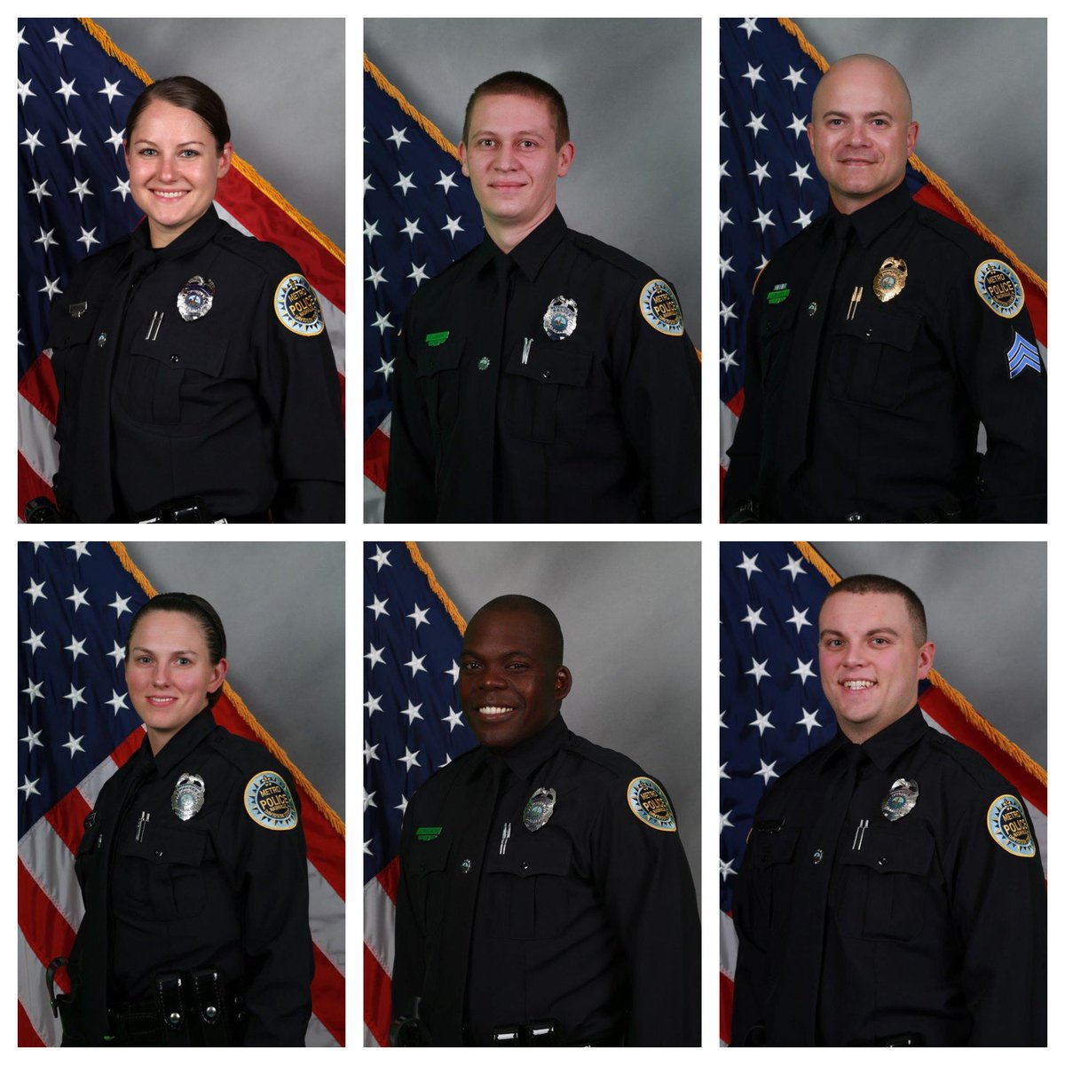 These are the six @MNPDNashville officers who worked to evacuate people before this morning's explosion. Undoubtedly saved lives #nashvillebombing