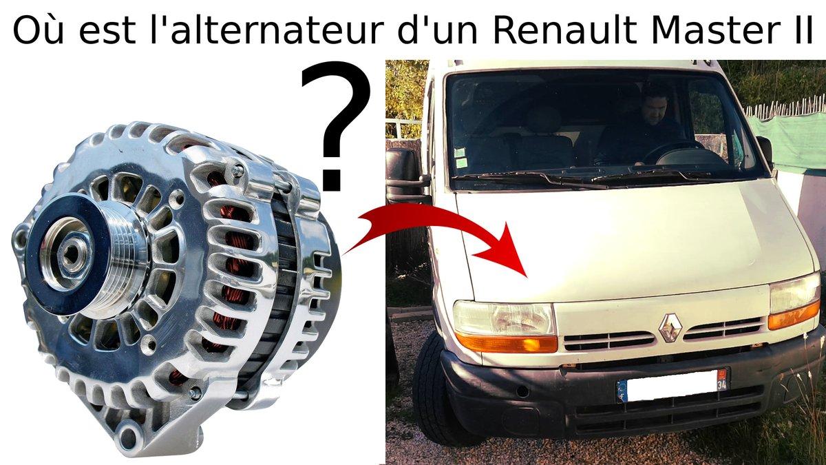 Où est l'alternateur sur #RenaultMaster II, #OpelMovano, #NissanInterstar (compartiment moteur SOFIM):  #Entraide #Mécanique #Automobile #LMDD #MécanoDuDimanche #Mécano #FabB #Cléde13 #GBRNR #Vilebrequin #Turbo #Automoto #TFSM #ContrôleTechnique