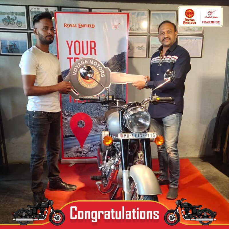 Congratulations Folks Welcome to RE Club..!!  #VoyageMotors  #RoyalEnfield #MadeLikeAGun #Dhanteras2019 #HappyDiwali #Diwali2019