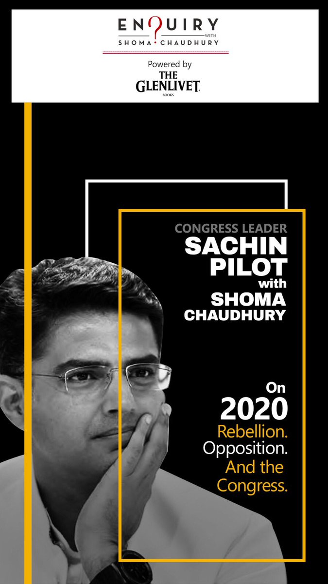 Why does @INCIndia believe it can't do without the Gandhis? What does the Congress stand for in 2020?@SachinPilot - 6 months after his rebellion - takes hard questions about himself, the party, and its leadership.Combative. Clear. Do watch: