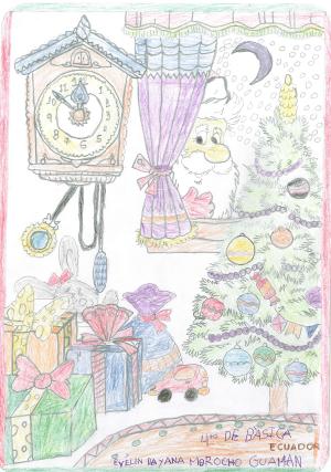Heute heißt es #FelizNavidad aus unserem Partnerland #Ecuador: Die (aus)gemalten Bilder sehen das Weihnachtsfest mit Kinderaugen. Mit dabei: ein riesiger Tannenbaum, eine Krippe und der Weihnachtsmann. Mehr Bilder gibt's auf Facebook und Instagram. Frohe Weihnachten!🌟 https://t.co/BgnwXf7G7S