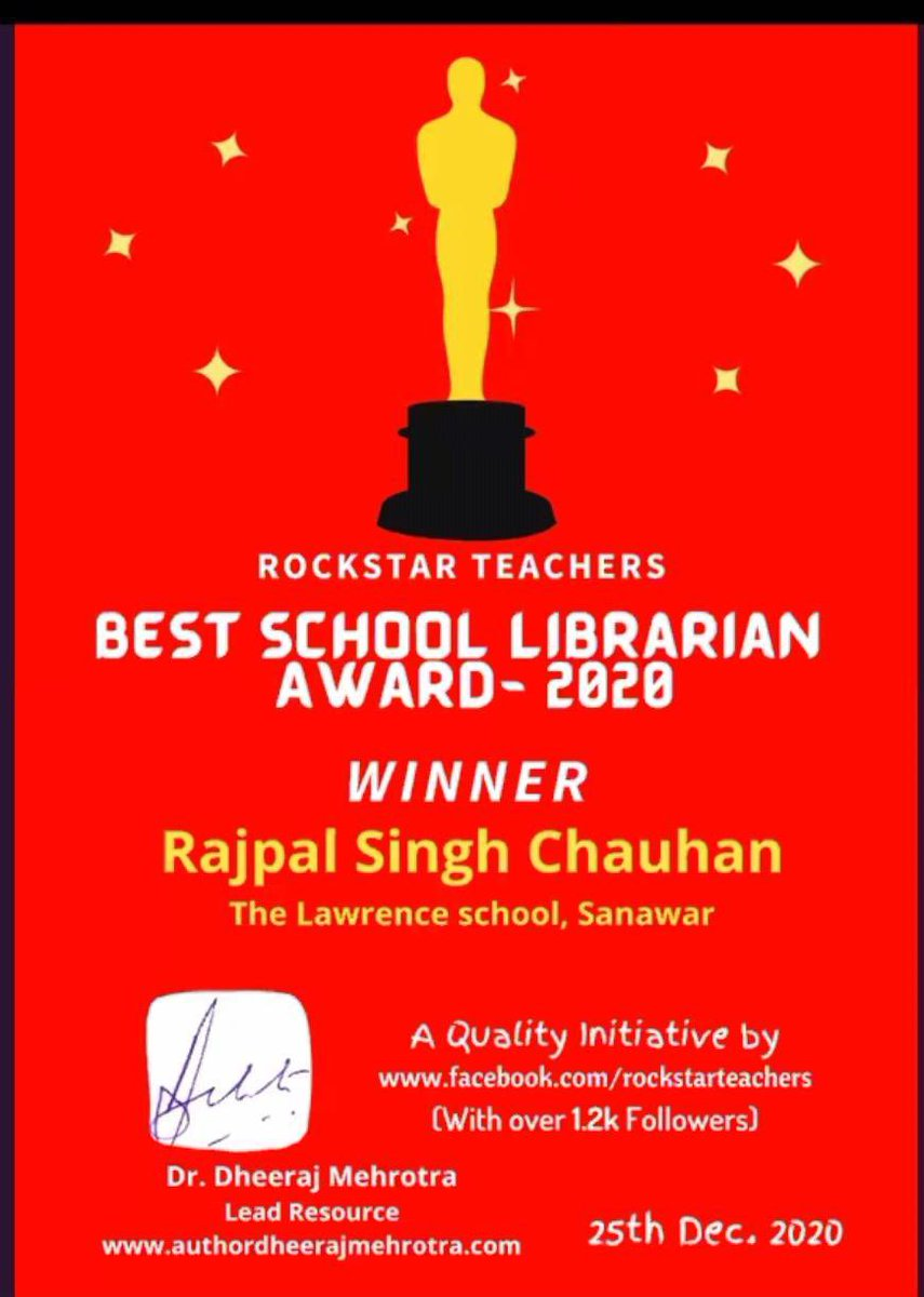 Congratulations Mr. Rajpal Singh Chauhan! You are truly a rockstar!! @LawrenceSanawar @Theoldsanawari1
