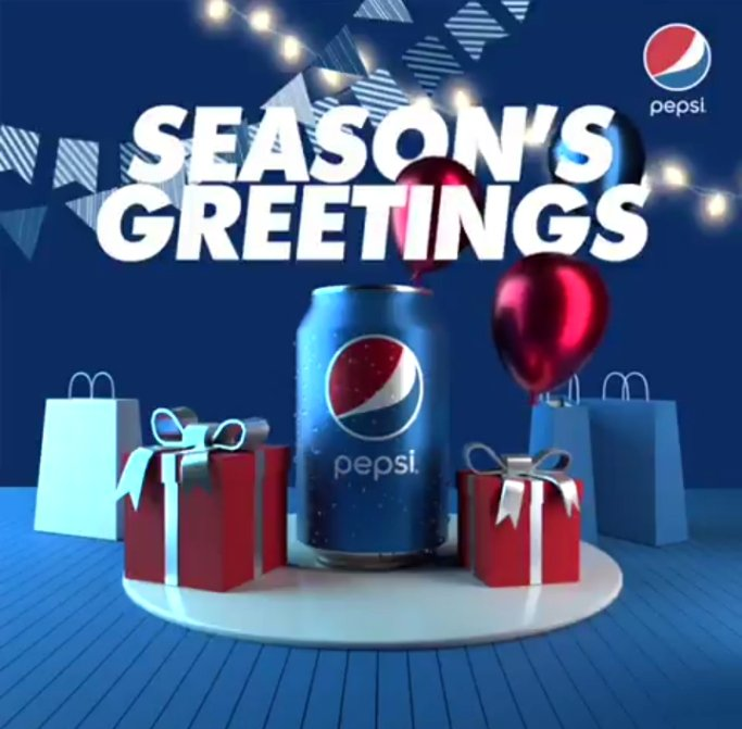 Only @Pepsi_Naija could have been this creative in wishing both the existing and the potential clients the best compliment of the season, you know 😉 #PepsiLovesChristmas #PEPSI❤️💯