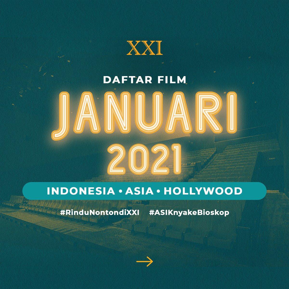 Sambut Januari tahun 2021 dengan penuh semangat 🔥🎉  Banyak film baru, baik dari Hollywood, Indonesia, maupun Asia yang bikin pengalaman #ASIKnyakeBioskop makin sempurna! (1)