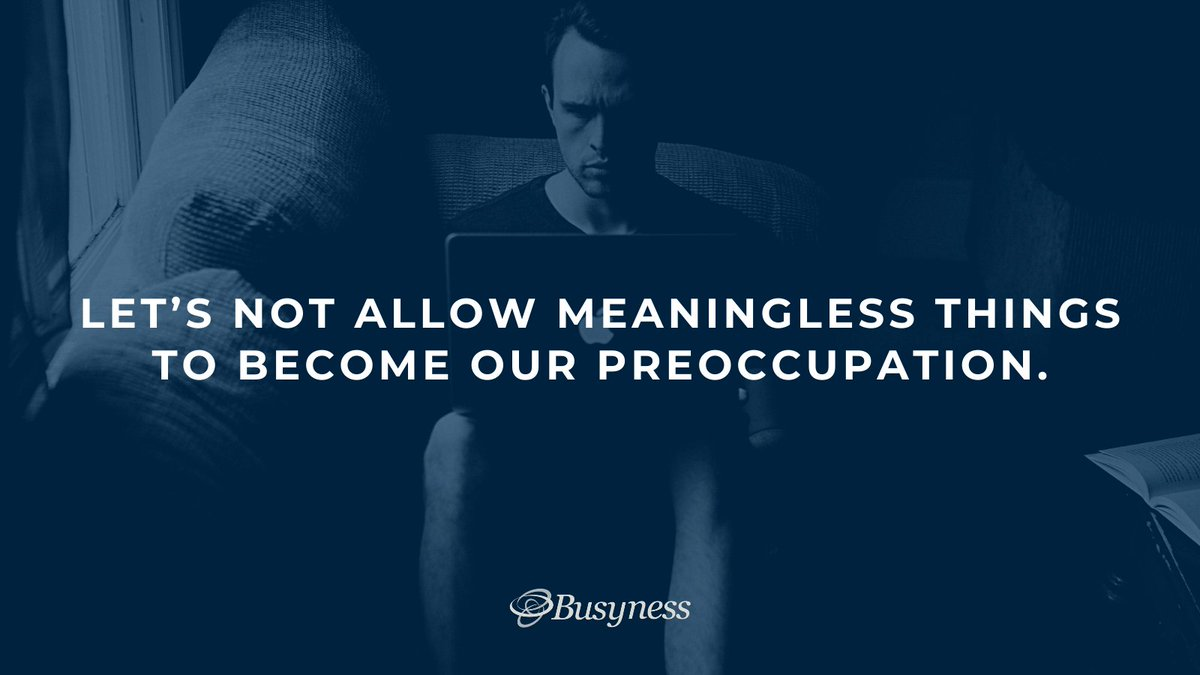Stop doing meaningless work. Check out this link: https://t.co/7NpAfyRLhp to #readmore #busyness #blog #unbusy #motivation #inspiring #mindset #stopwastingtime #valueyourtime https://t.co/XktjRAQIbX