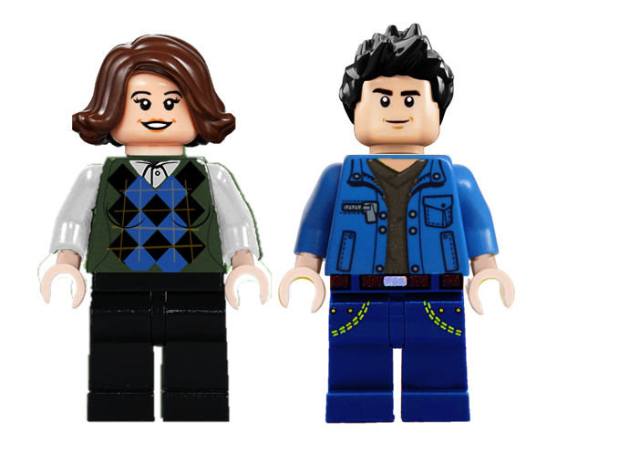 #gilmorethemerrier #lego #gilmoregirls  Jess and Rory Minifigures.