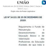 Image for the Tweet beginning: Sancionada, sem vetos, a Lei