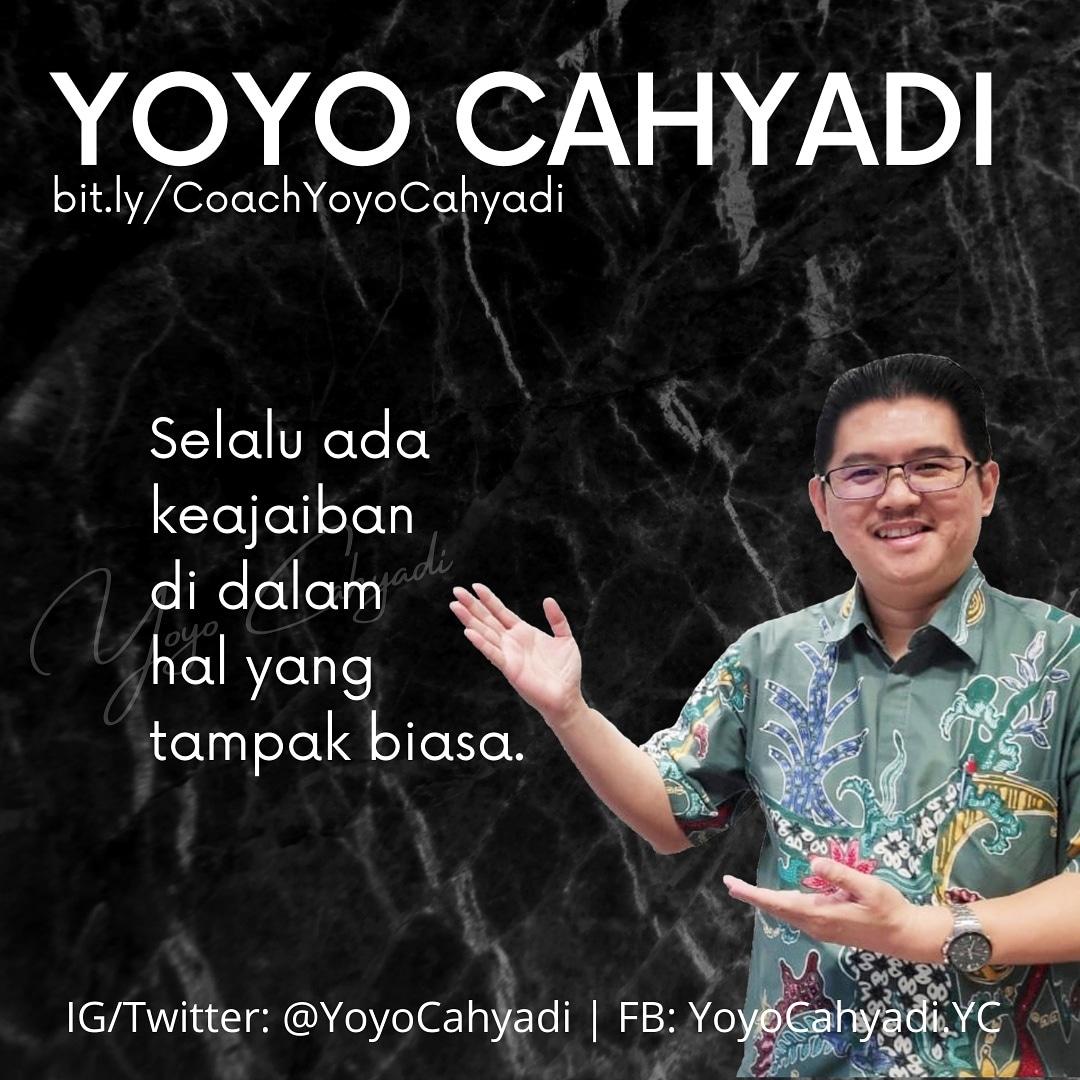 Kita tidak selalu dapat melihat atau memahami keajaiban, tetapi itu tidak berarti bahwa tidak ada keajaiban.   #YoyoCahyadi #executivecoach #coaching #keajaiban