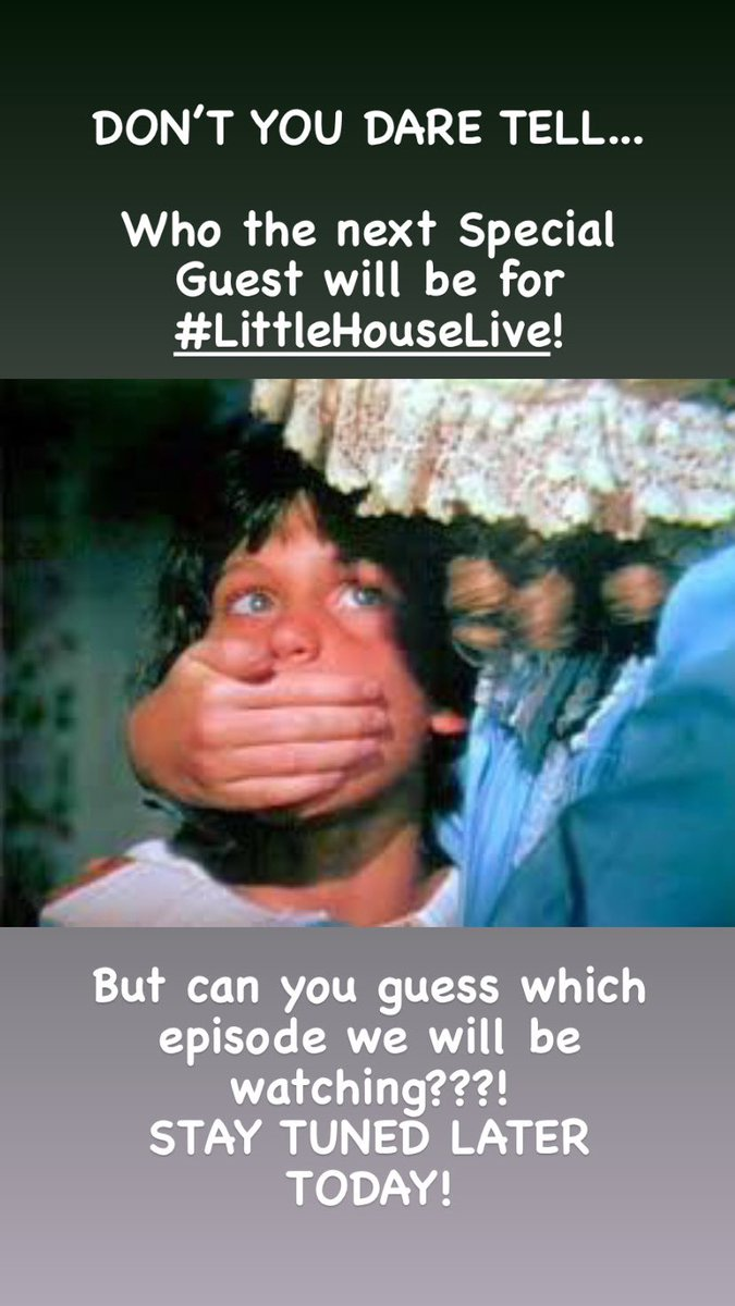 Stay tuned! I'll announce who the special guest is for #LittleHouseLive! 12/20/20, 8pm EST with @thepamelabob ! Can you guess which episode we will be watching? . #livinonaprairie #littlehouseonprairie #livecommentary #comedy #nellieoleson