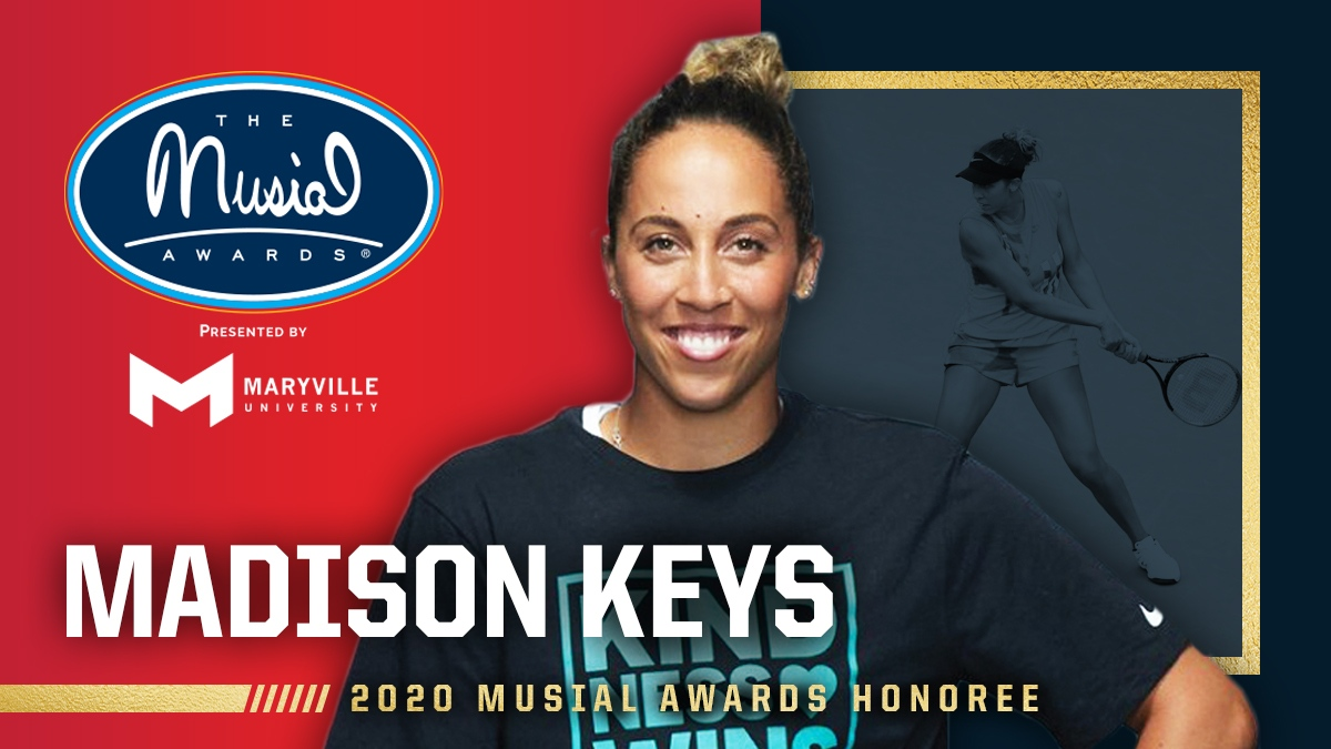 Tune in to @CBS TONIGHT at 3pm (EST) for the 2020 @MusialAwards - The Most Inspiring Night In Sports® where our Founding Champion @Madison_Keys  will be honored for her work with #KindnessWins 💙
