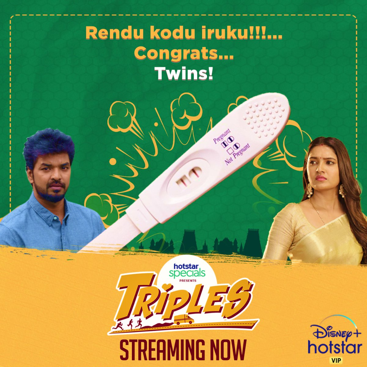இங்கேயும் ' இரு கோடுகள்'. Wanna know the reference!? Watch 'Triples'  #TriplesTheFun #Triples #NowStreaming