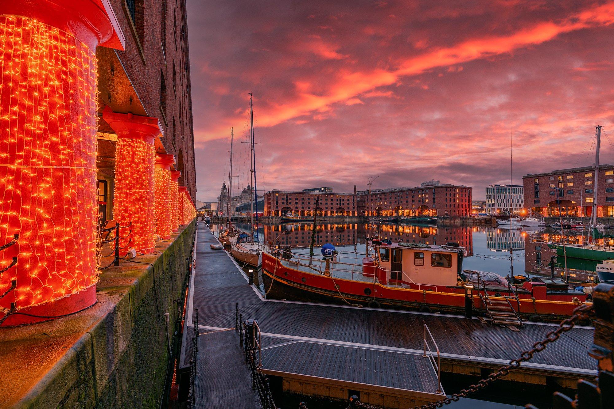 Royal Albert Dock, Liverpool at Christmas